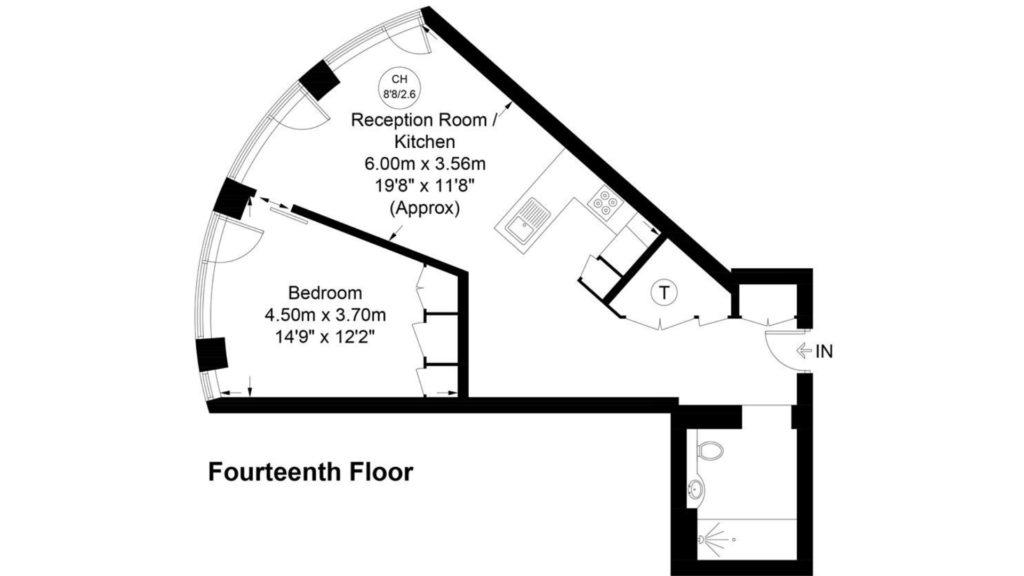 Southbank Tower 1410 floor plan